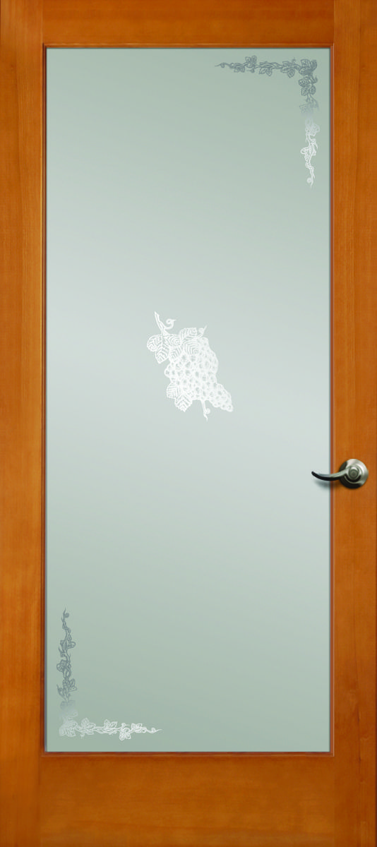Simpson Interior French Door With Etched Grapes Design Good Style