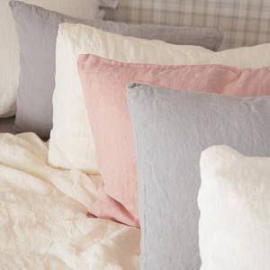 Natürliche Leinen Kissenbezug, Die Verwaschenes Leinen Bettwäsche Weiß,  Blau, Grau Leinen Vortäuschung Bio