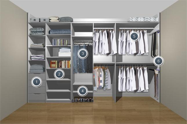 grey fitted sliding wardrobe for men's bedroom