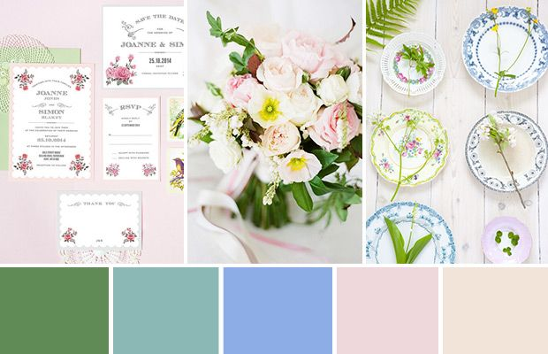 We Have Dreamt Up The Perfect Spring Garden Wedding Color Palette With  Shades Of Green,