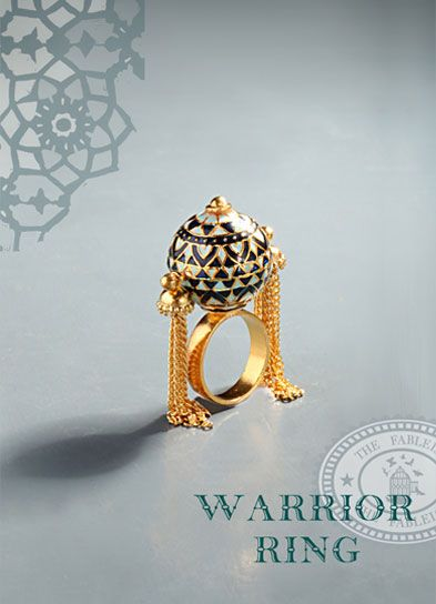 7658254a868b5 Warrior Ring. Statement piece by The Fableist. 22k Gold plated with ...