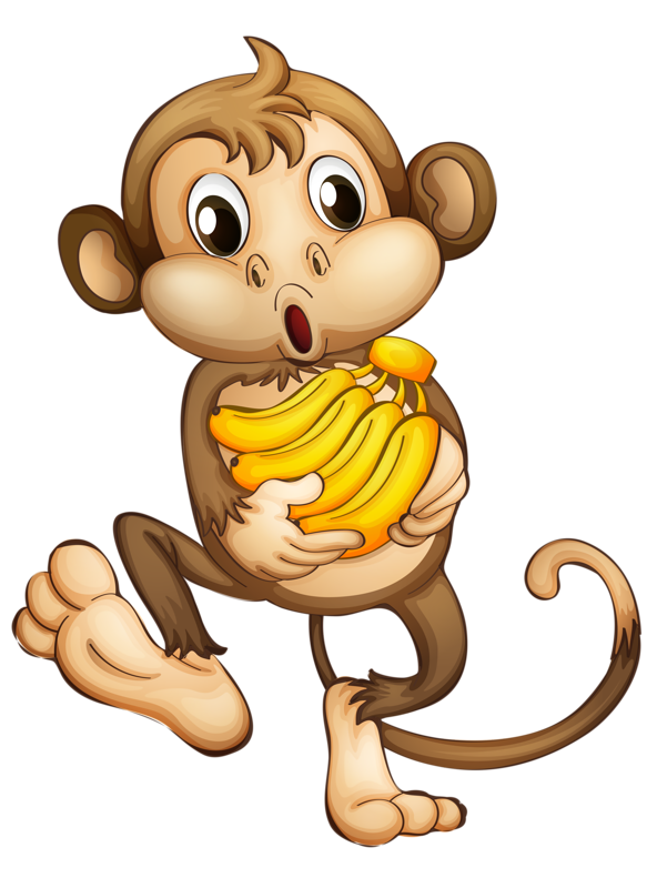 Картинки обезьянка с бананом