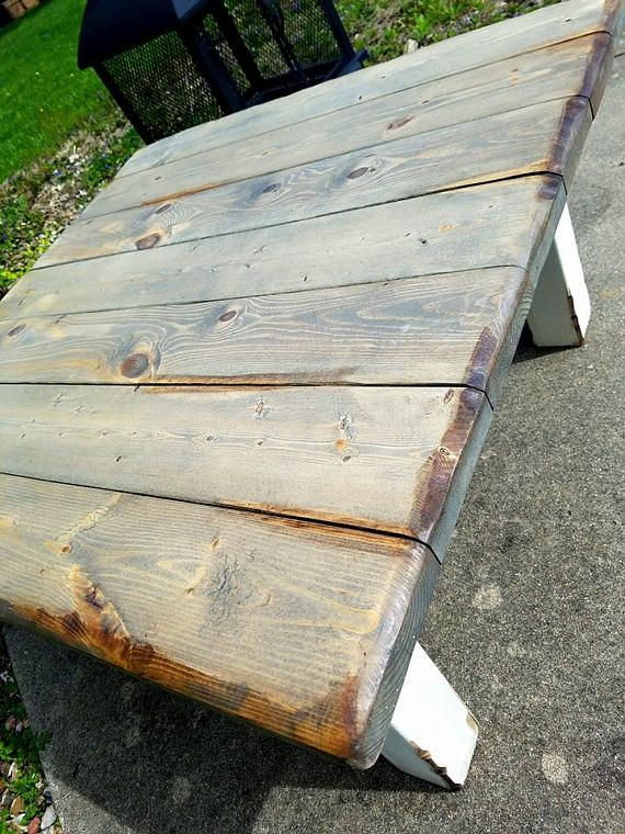 Rustic Reclaimed Wood COFFEE Table Unique Restoration Accent