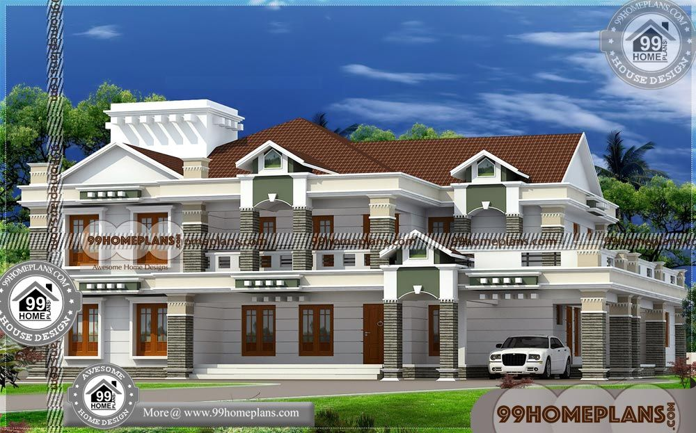 Double Storey Bungalow House Design With Indian Bungalow Plan Having 2 Floor 5 Total Bedroo Modern Bungalow House Design Bungalow House Design Bungalow Design