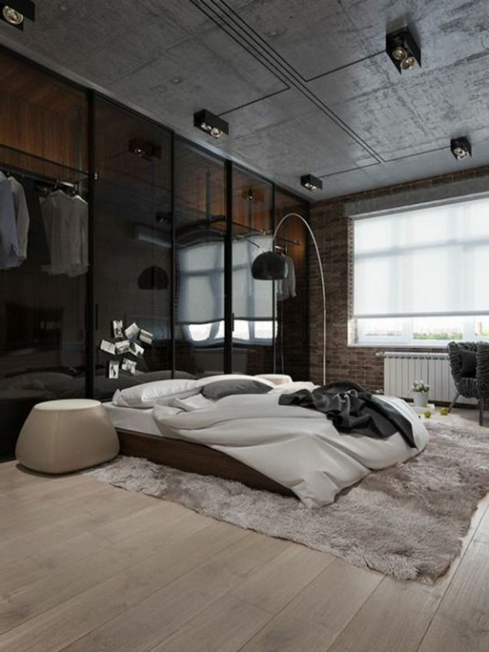 Fachadas modernas dormitorio tonos oscuros l mpara de for Dormitorio oscuro
