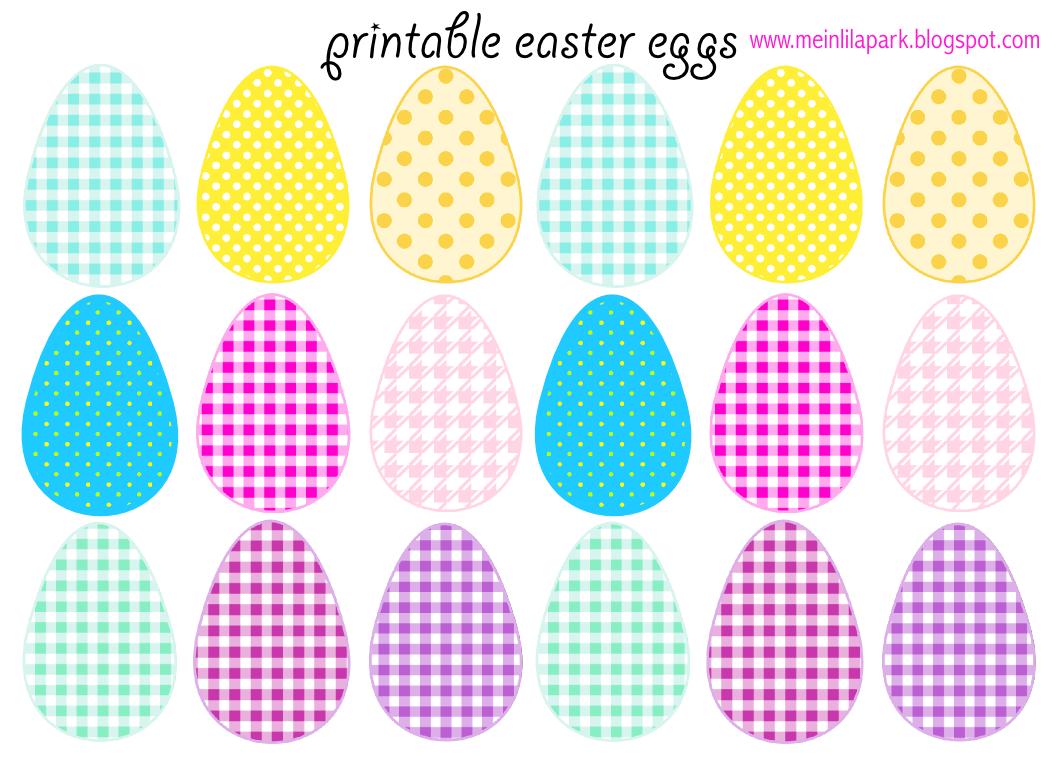 Printable colored easter eggs - Free Printable Cheerfully Colored Easter Eggs Ausdruckbare Ostereier Freebie Meinlilapark Digital Freebies