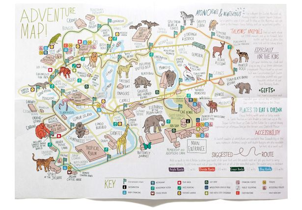 Wayfinding And Navigation Can Be Fun Zoo Map Chester Zoo Illustrated Map