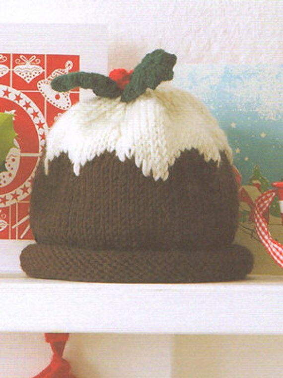 4820f42d2d0 Hand Knitted Cashmere and Wool Christmas Pudding Baby Hat 3-6 months ...