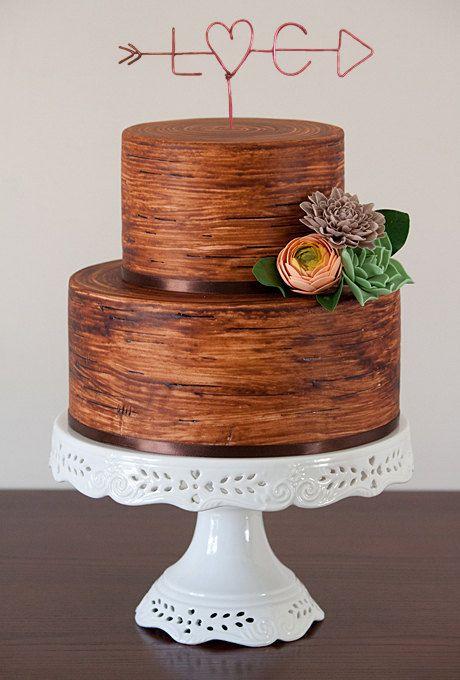 Wedding Cake Topper Wire Cake Topper Arrow & by LeRusticChic ...