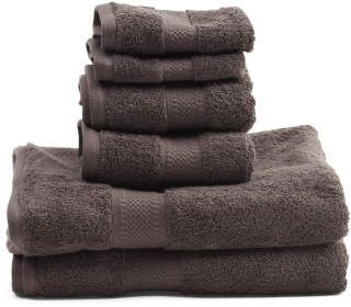 Made In India 6pc Organic Cotton Towel Set Towel Set Cotton