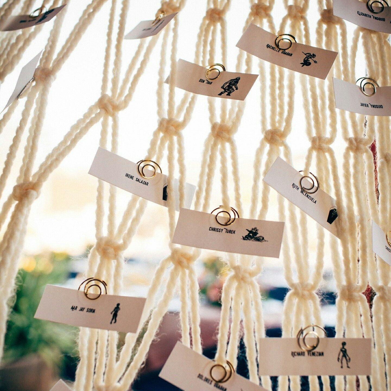 Macrame Wedding Ceremony Backdrop For An Arch Arbor Altar Or Indoor Reception