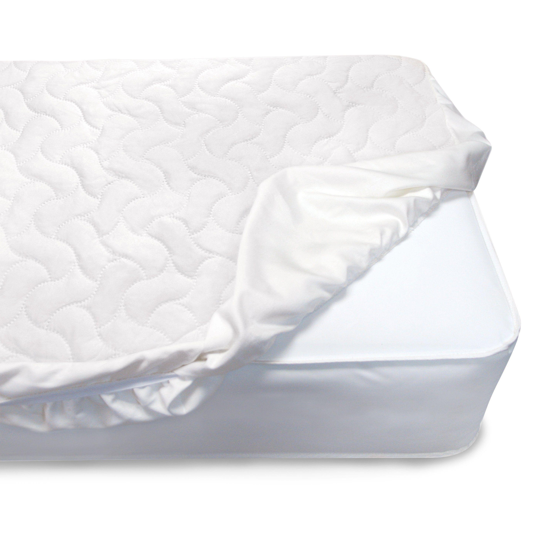 Serta Sertapedic Crib Mattress Pad Cover Protector With Nanotex