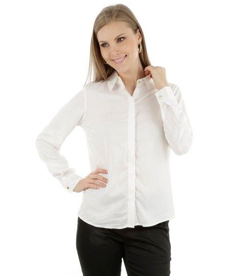 Camisa Ampla Off White