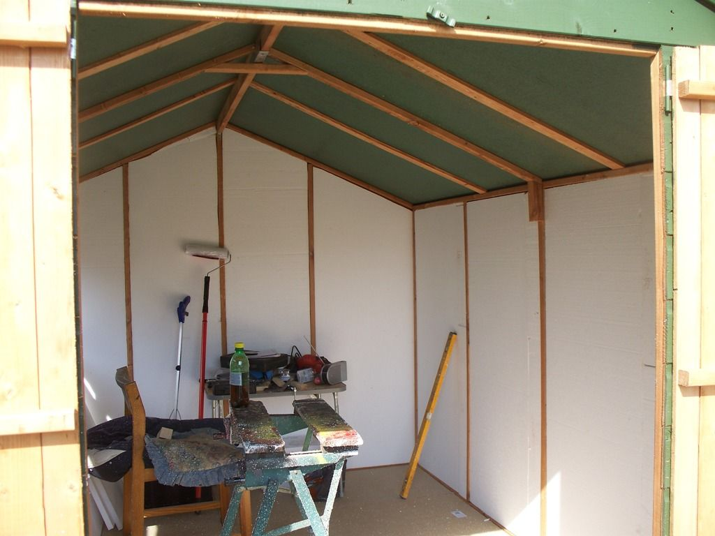 Lining shed with polystyrene insulation | Shed Workshop in 2019 | Polystyrene insulation ...