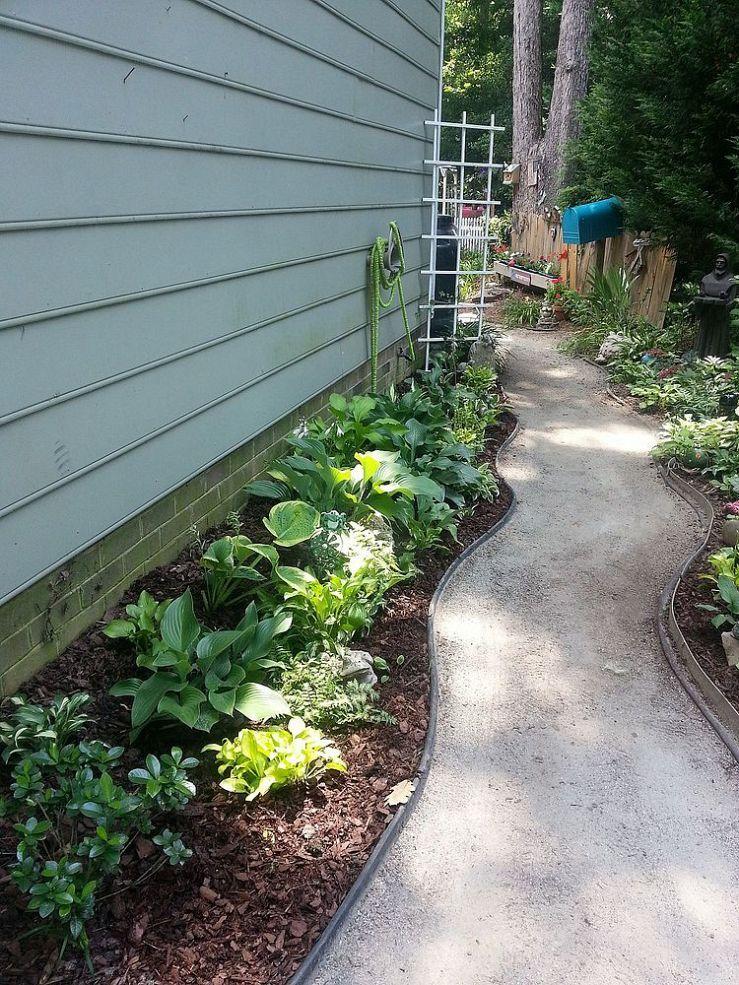 side yard beauty backyard landscaping