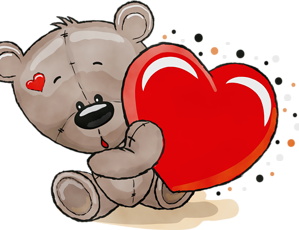 Teddy Bear Transparent Png Images For Valentine S Day Cartoon Heart Images For Valentines Day Cartoon