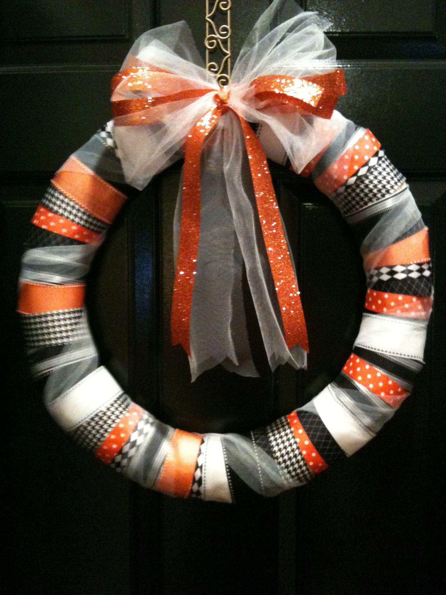 Grosgrain Ribbon Wrap Wreath by Eighty Six Chicks