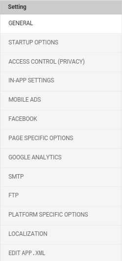 Application Settings Dashboard
