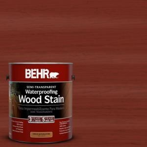 Behr Model 3077011 Gal St 330 Redwood Semi Transparent Waterproofing Wood Stain Staining Wood Exterior Wood Stain Semi Transparent Stain