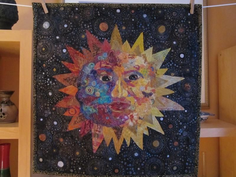 Sun Face..collage/quilt | QUILTING | Pinterest | Face collage and ... : face quilts - Adamdwight.com