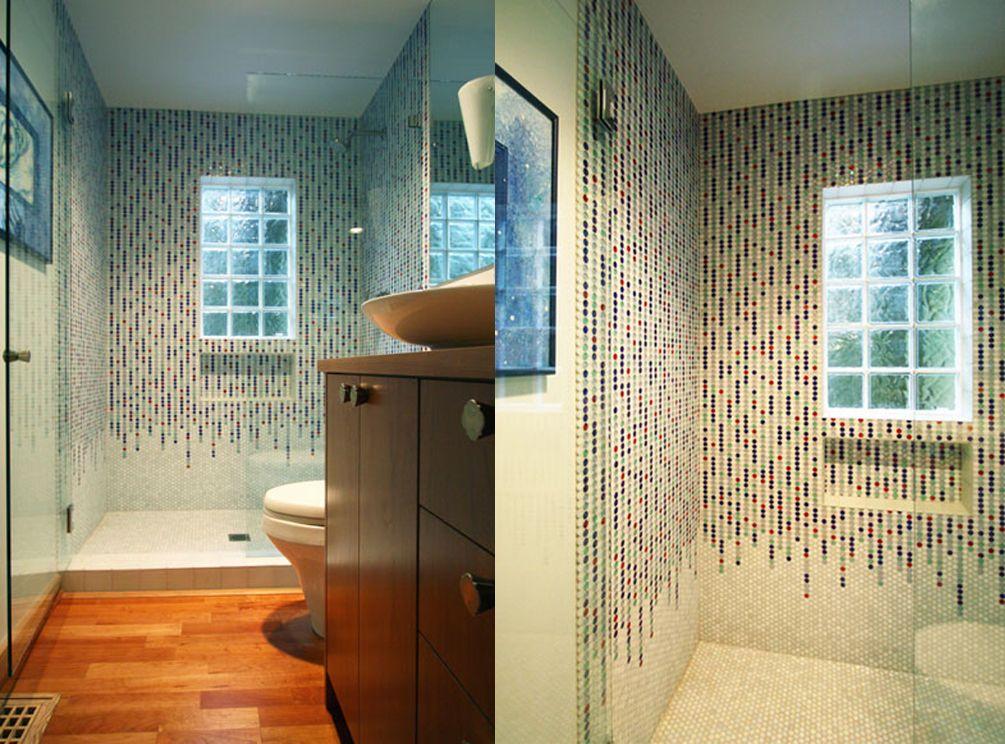Colorful Bathroom Tile in Portland Bathroom Remodel Bathroom