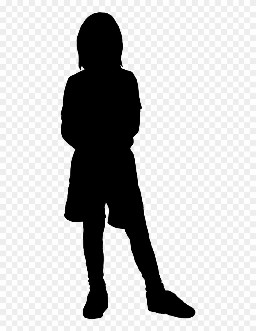 Kid Silhouette Clipart : silhouette, clipart, Beautiful, Silhouettes, Children, Silhouette, Clipart, Silhouette,, Girls