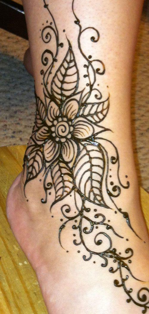 Simple Henna Foot Tattoo Designs: Henna Tattoo Designs, Henna Ankle