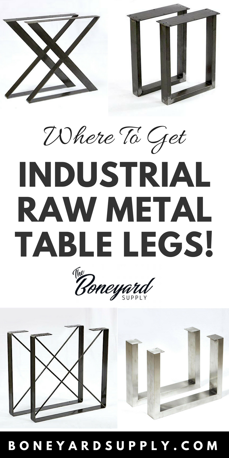 Where to get raw metal table legs canada live edge table