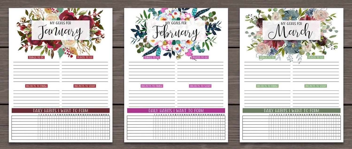 Monthly Goals Printable | Goal planner printable free ...
