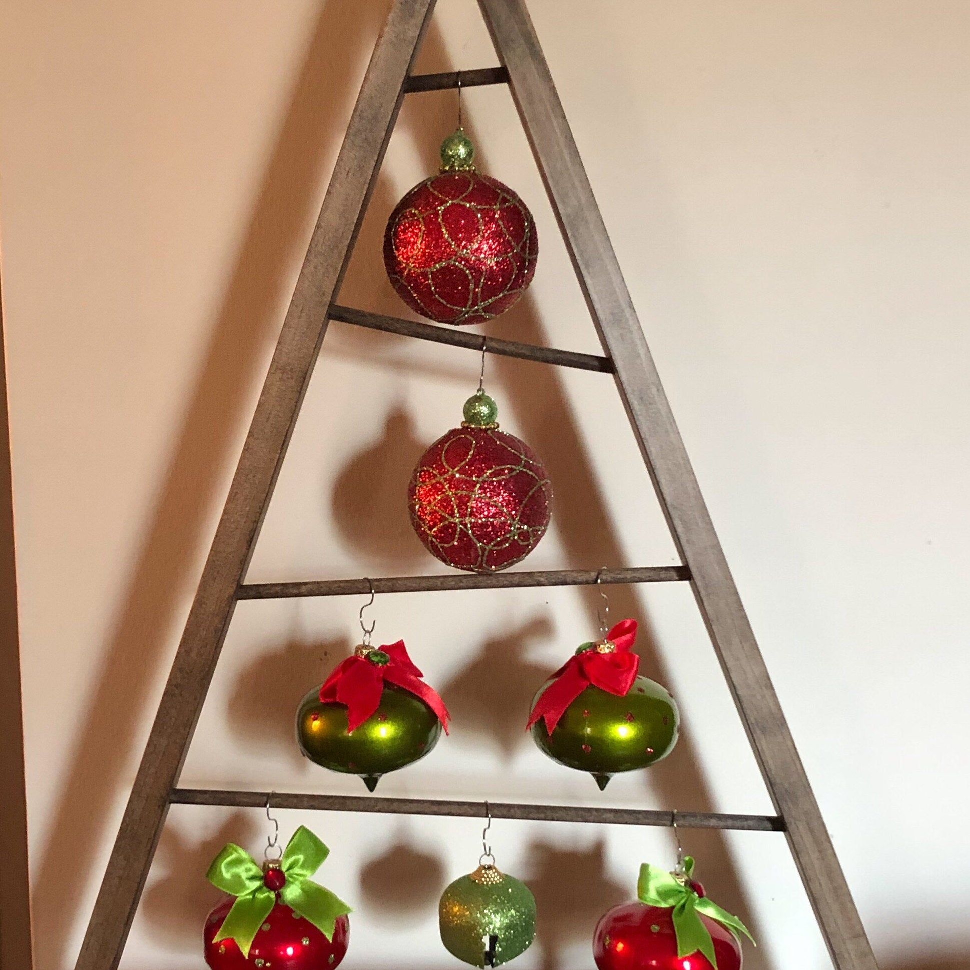 SALE Rustic Stained A-frame Christmas Tree Ornament ...