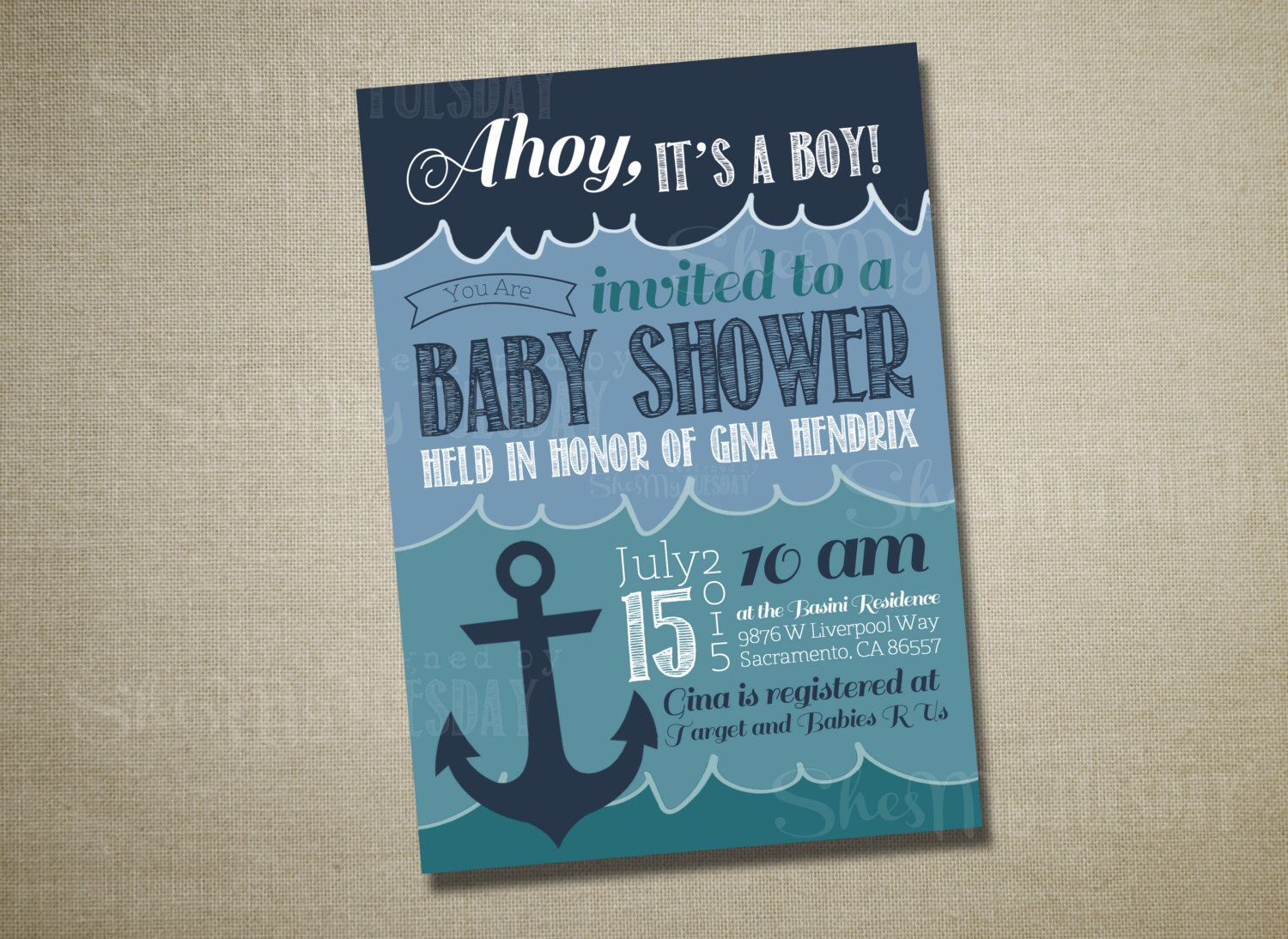 Ahoy It\'s A Boy Baby Shower Invitation - Nautical Baby Shower ...