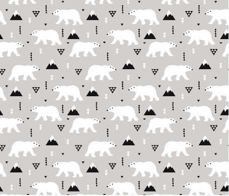Polar Bear Winter Mountain fabric by Little Smile Makers. Printed on Organic Cotton Knit, Linen Cotton Canvas, Organic Cotton Sateen, Kona Cotton, Basic Cotton Ultra, or Cotton Poplin fabric. This fabric is digitally printed on demand as orders are placed. Unlike conventional textile manufacturing, very little waste of fabric, ink, water or electricity is used. We print using eco-friendly, water-based inks on natural and synthetic fiber textiles. No additional chemicals are used in the…
