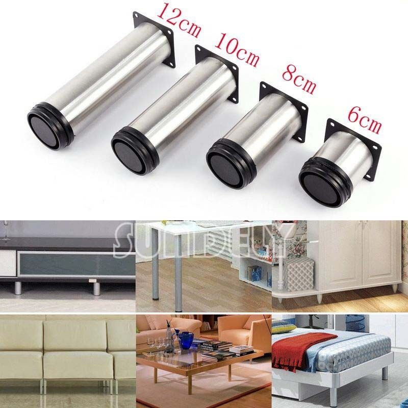 6 85 Gbp Stainless Steel 4pcs Adjule Plinth Leg For Kitchen Cabinet Furniture Sofa