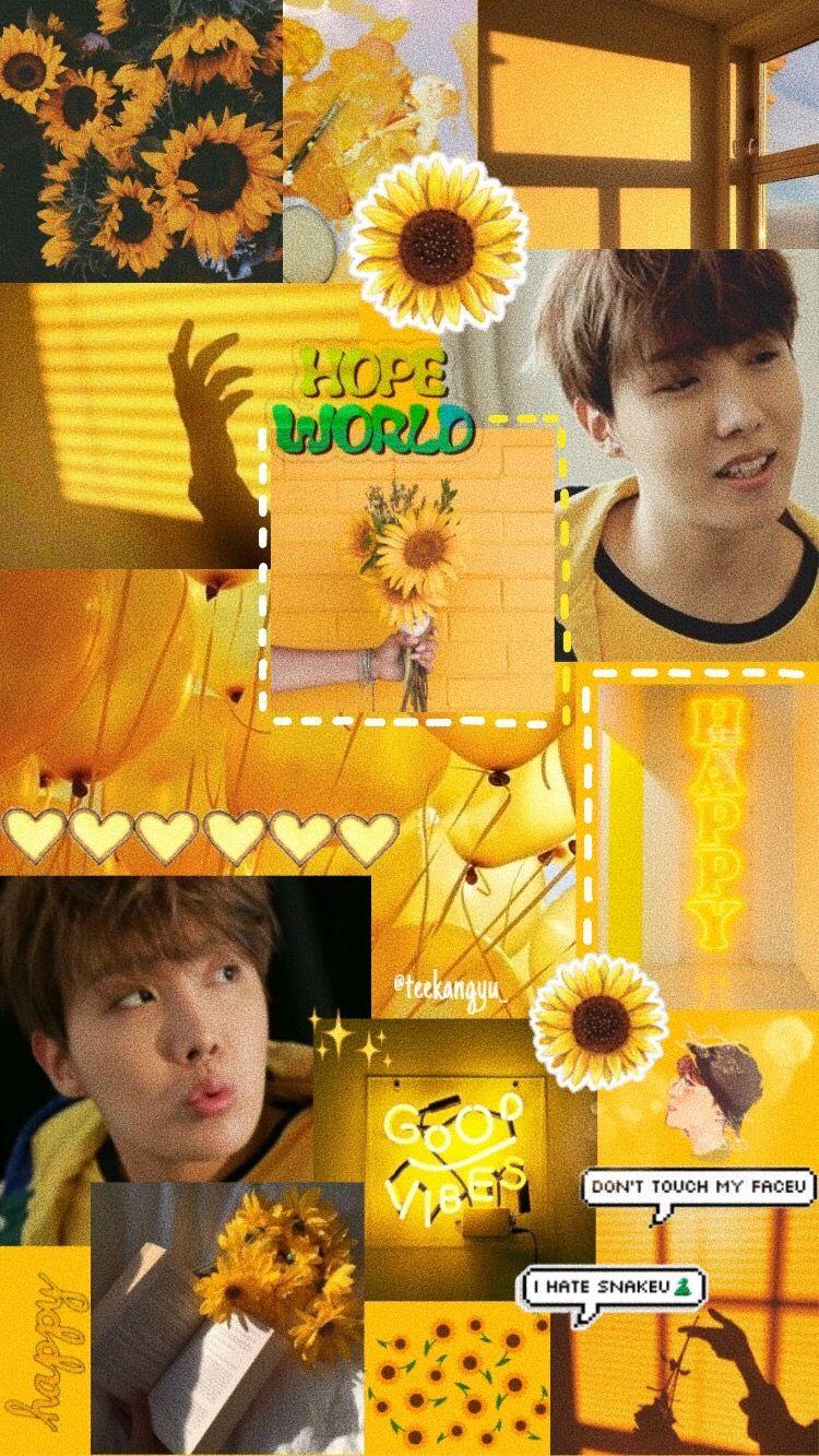 Jhope Lockscreen Sunflower Aesthetic Wallpaper Bts Jhope Bts Wallpaper Yellow Aesthetic Yellow Theme Bts j hope aesthetic wallpaper