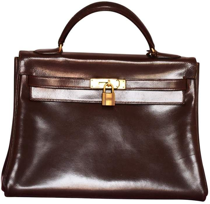 Photo of Kelly leather handbag Hermès Brown in Leather – 3833794