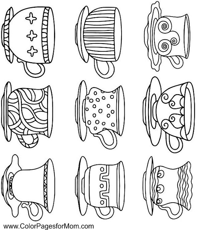 coffee coloring page 23 free Join my grownup coloring
