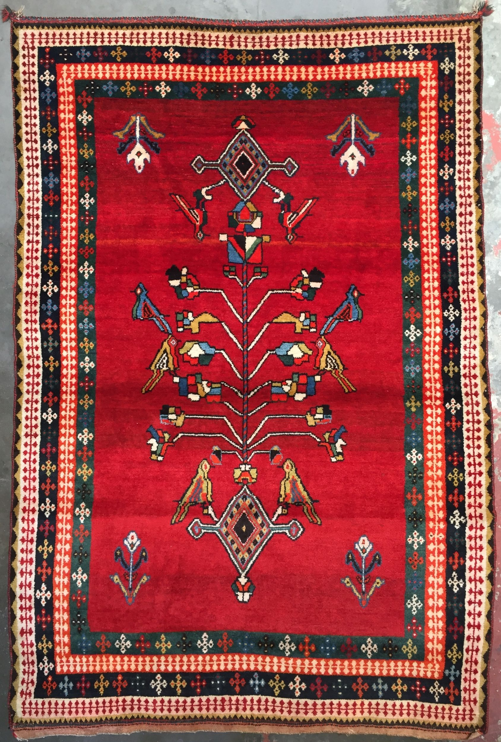 Persian Tribal Rug 4 10 X 7 2 Qashqai Gabbeh Rug Persian Tribal Rugs Gabbeh Rug Rugs