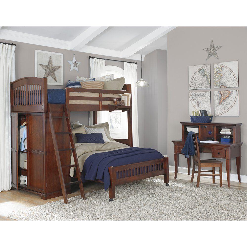 Twin loft bed ideas  Walnut Street Locker Loft Bed  Chestnut  Bunk Beds u Loft Beds at