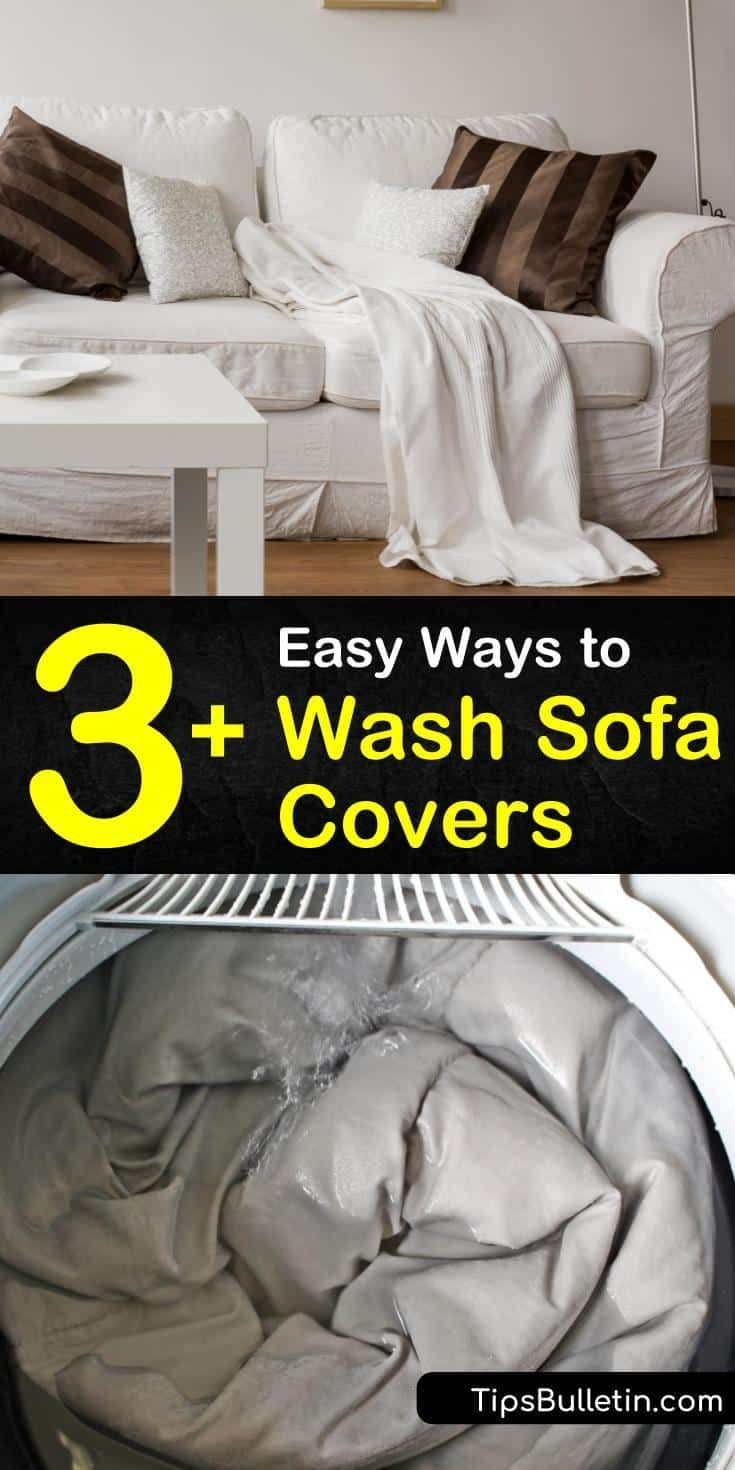 3 Easy Ways To Wash Sofa Covers In 2020 Couch Covers Microfiber Couch Cover Sofa Covers