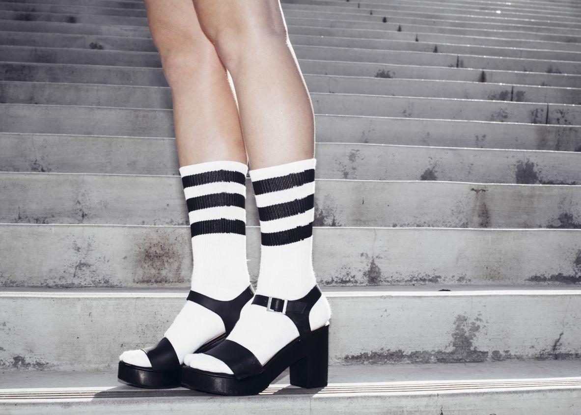 Black jelly sandals american apparel - Wooden Heel Sandal American Apparel