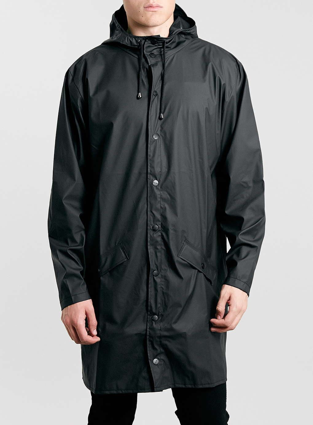Rains Black Long Waterproof Jacket | Photos, Products and Rain
