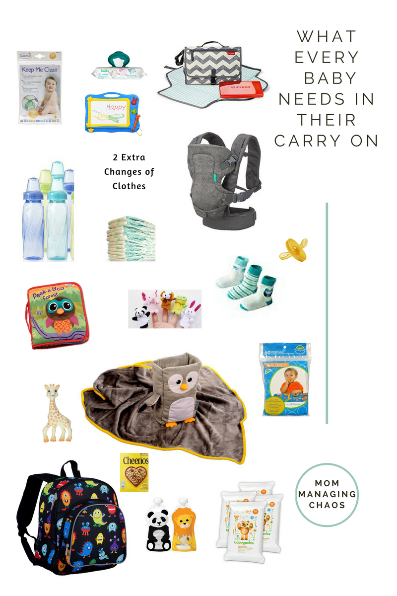 The Carry On Essentials for a Baby | Travel tips | Baby on ...