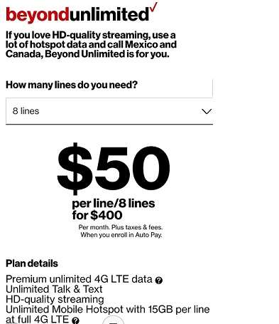 Verizon Cell Phone Plans For Seniors Verizon Beyond Unlimited Cell Phone Plans Phone Plans How To Plan