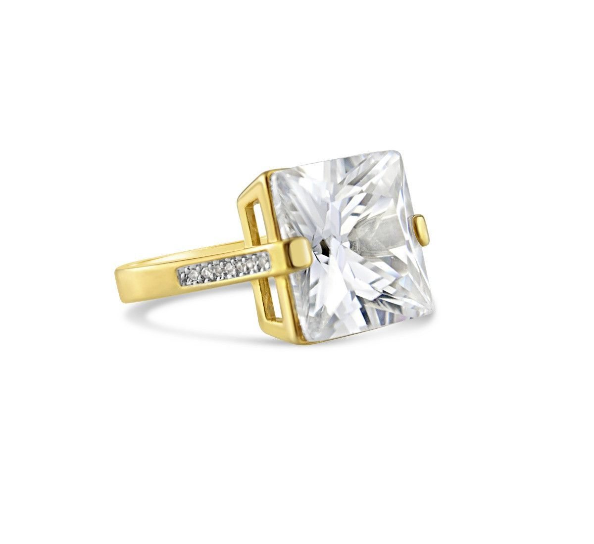 Upgrade You 18k Yellow Gold-Filled CZ Ring
