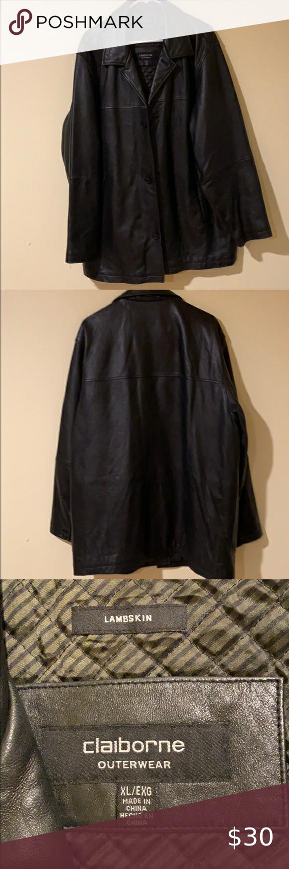 Black Claiborne Lamb Skin Leather Jacket In Great Shape Some Wear On Bottom Of Sleeves Claiborne Jackets Coats Clothes Design Fashion Leather Jacket [ 1740 x 580 Pixel ]