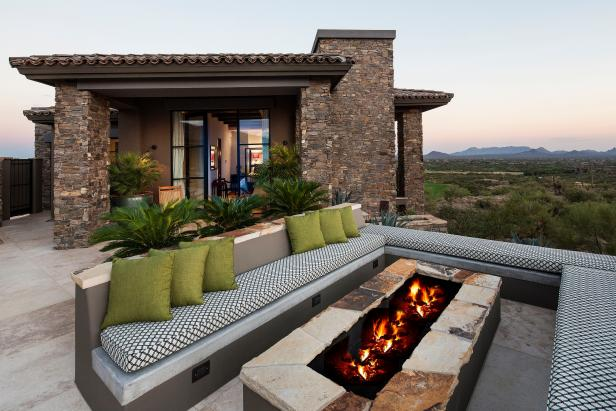 Relaxing Outdoor Patio at Arizona Desert Retreat The Effective Pictures We Offer You About Firepit area A quality picture can tell you many things You can find the most b...