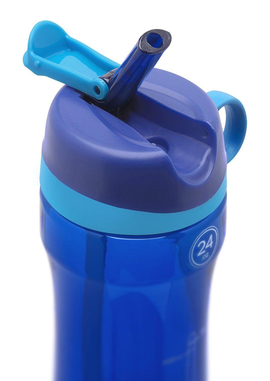 8e42983c97 Amazon.com : Pogo BPA-Free Plastic Water Bottle with Flip Straw, 24 oz. :  Sports & Outdoors