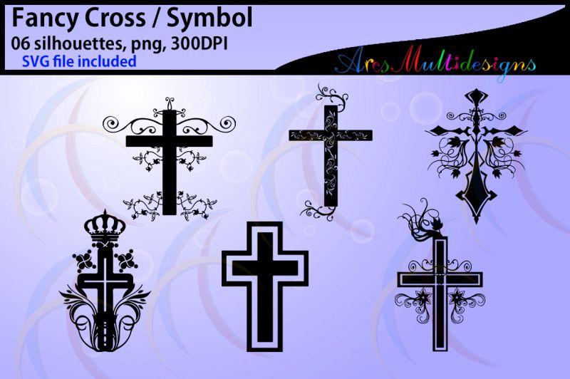 Fancy Cross Silhouette Svg Vector By Arcsmultidesignsshop Thehungryjpeg Com In 2020 Cross Printable Cross Silhouette Cross Svg