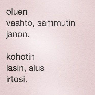 päivän runo 17.8.2014
