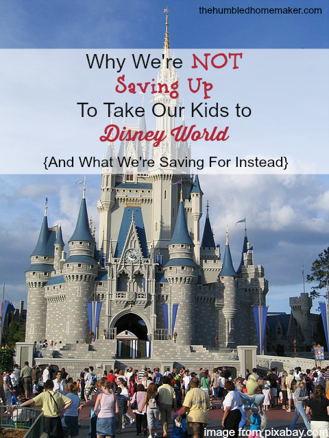 Why We're NOT Saving Up to Take Our Kids To Disney World #ourkids